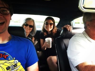Dean and I with my parents on our way to a car show in Montgomery earlier this year.