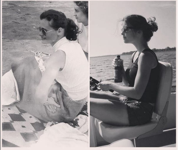 Grandma on the left, me on the right. I'm still not used to the fact that she's not there anymore.