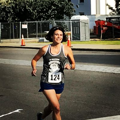 During the Montgomery Jubilee 8k Run.  I had a blast even though I forgot my headphones!