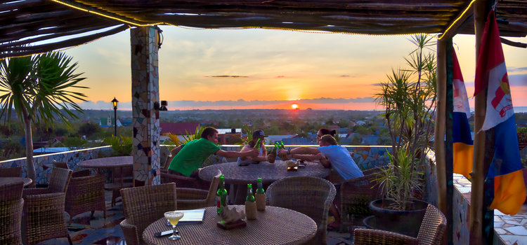 Rooftop bar at Hotel La Hasienda, Kupang, NTT, Indonesia. Photo © Basil Rolandsen (http://media.bouvet.org)