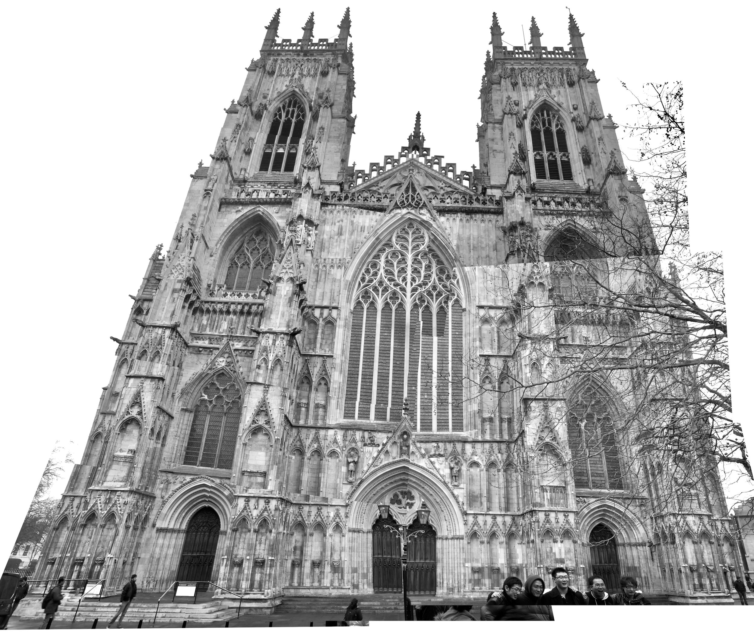 York Minster. several photos stitched together. The full resolution pic is 34 MB.