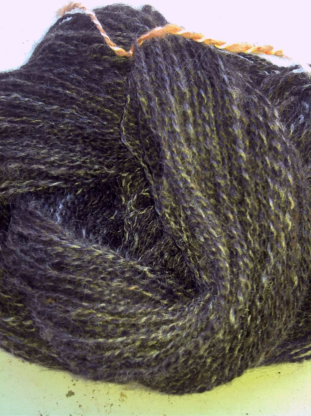 English Leicester and Finn handspun yarn from Inverleigh Farms Fiber Supplies