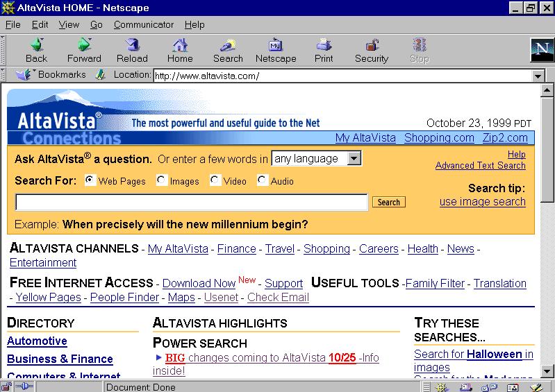 AltaVista Search - Pre-Google.