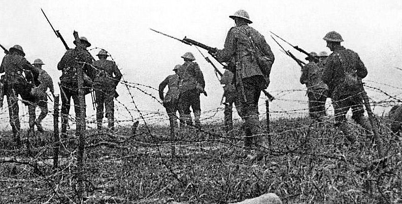 The Somme: Over 19,000 British soldiers were killed on the first day of this offensive, July 1, 1916