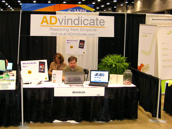 ADvindicate.com booth, ASI Cincinnati, August, 2012