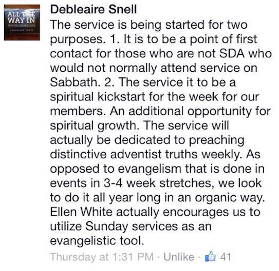 Screen capture of Snell's comment.