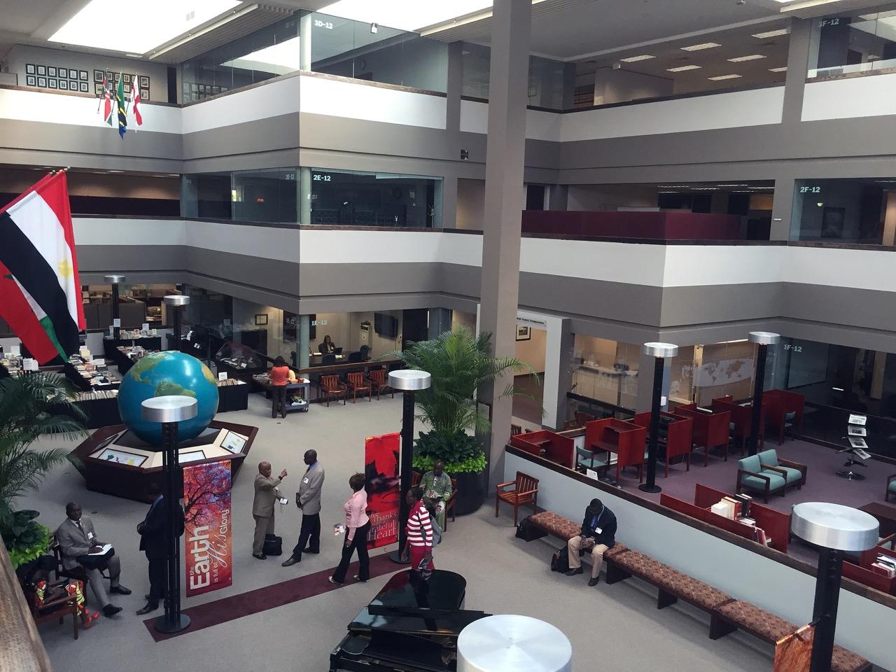 Inside the Seventh-day Adventist Church world headquarters.