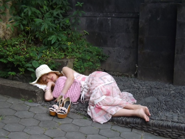 Have you ever been so tired that you just dropped where you stood and took a nap? No, me neither.