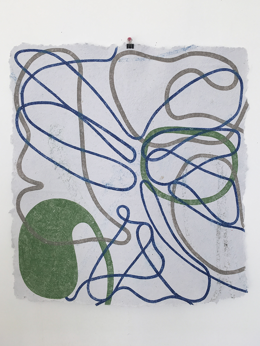 Untitled (Blue Lines)