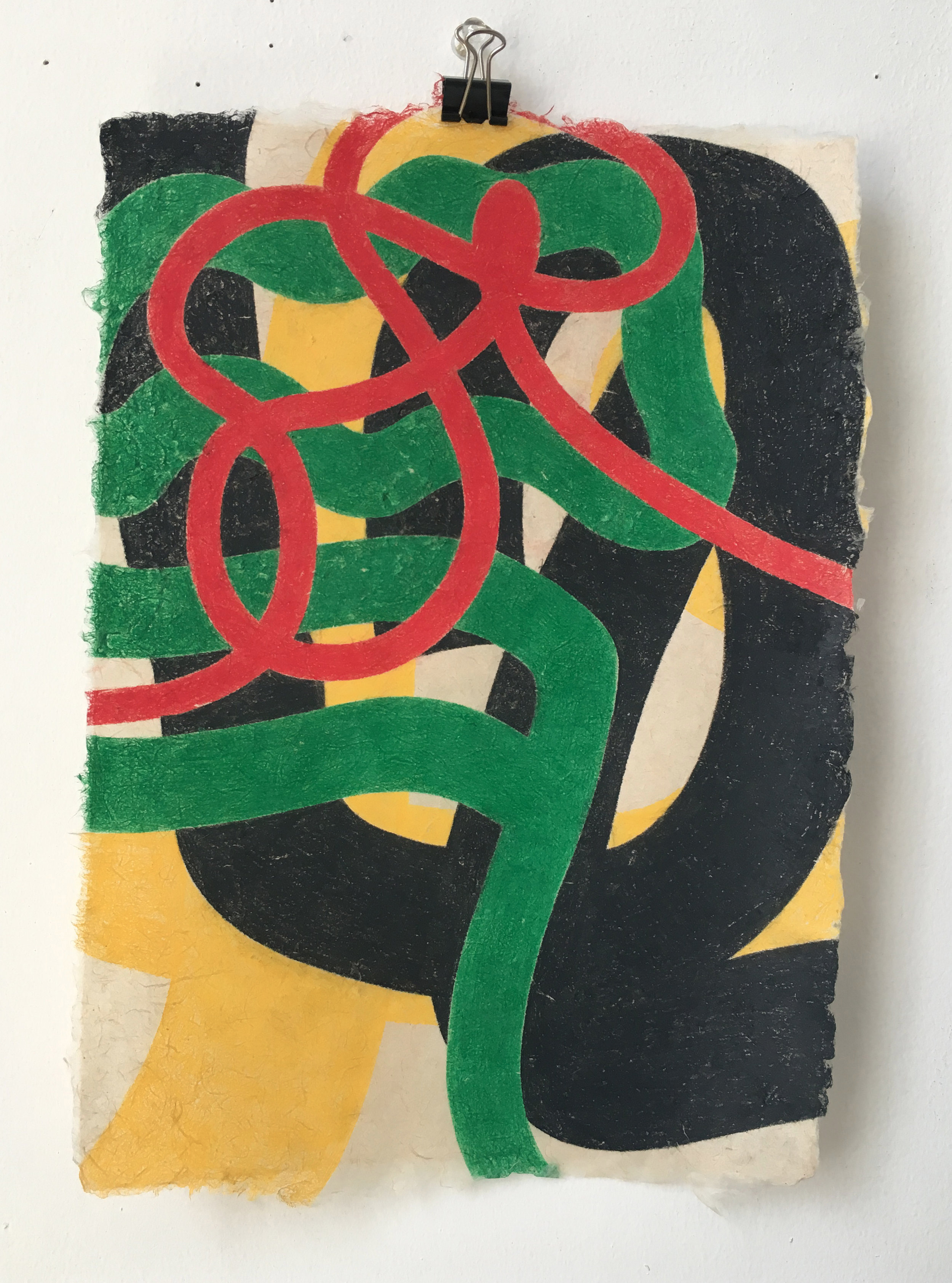 Untitled (Red, Green, Black and Yellow)