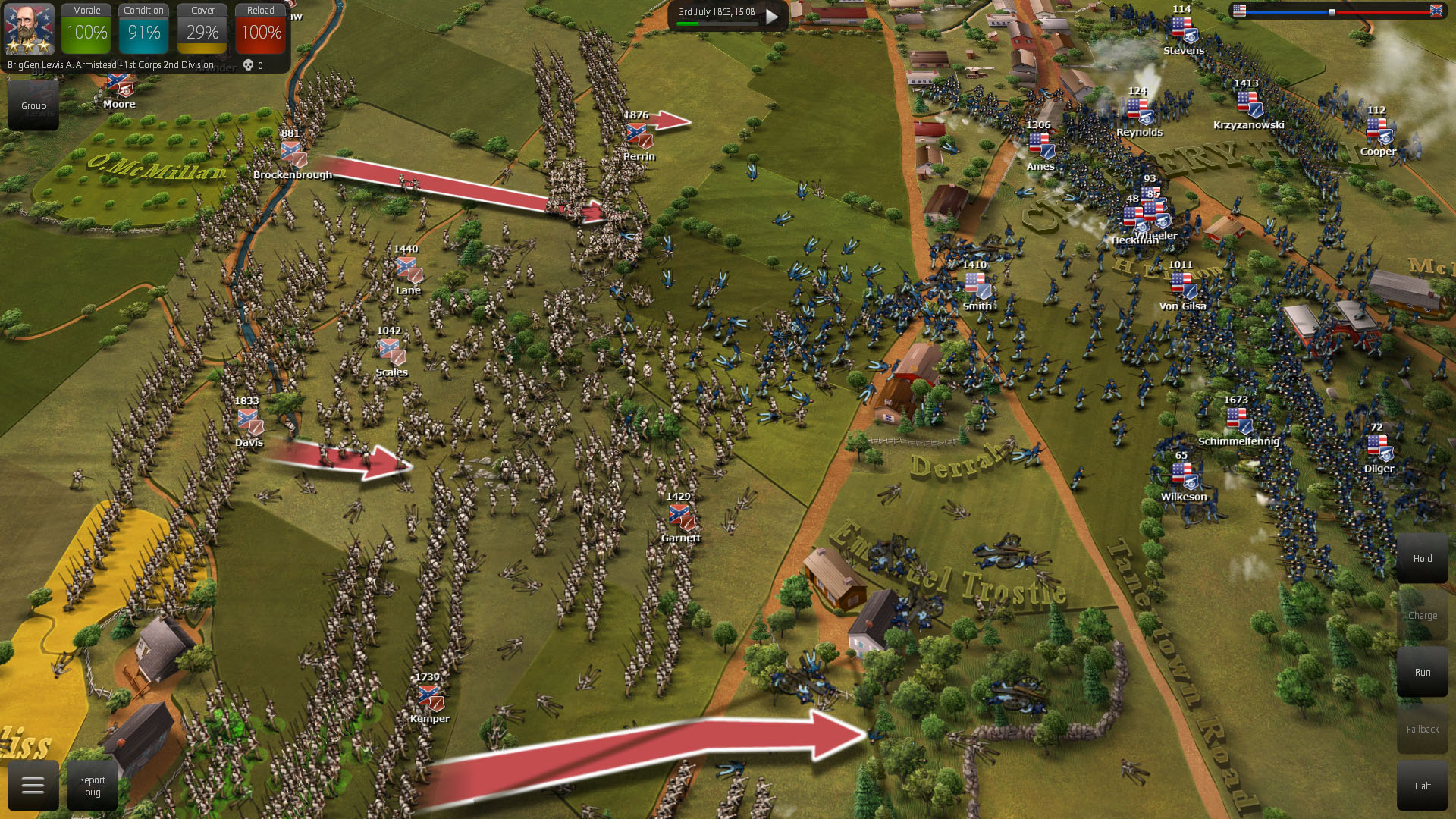 In this patch, the battles are more realistic visually and in gameplay due to improved melee mechanics and combat balances.