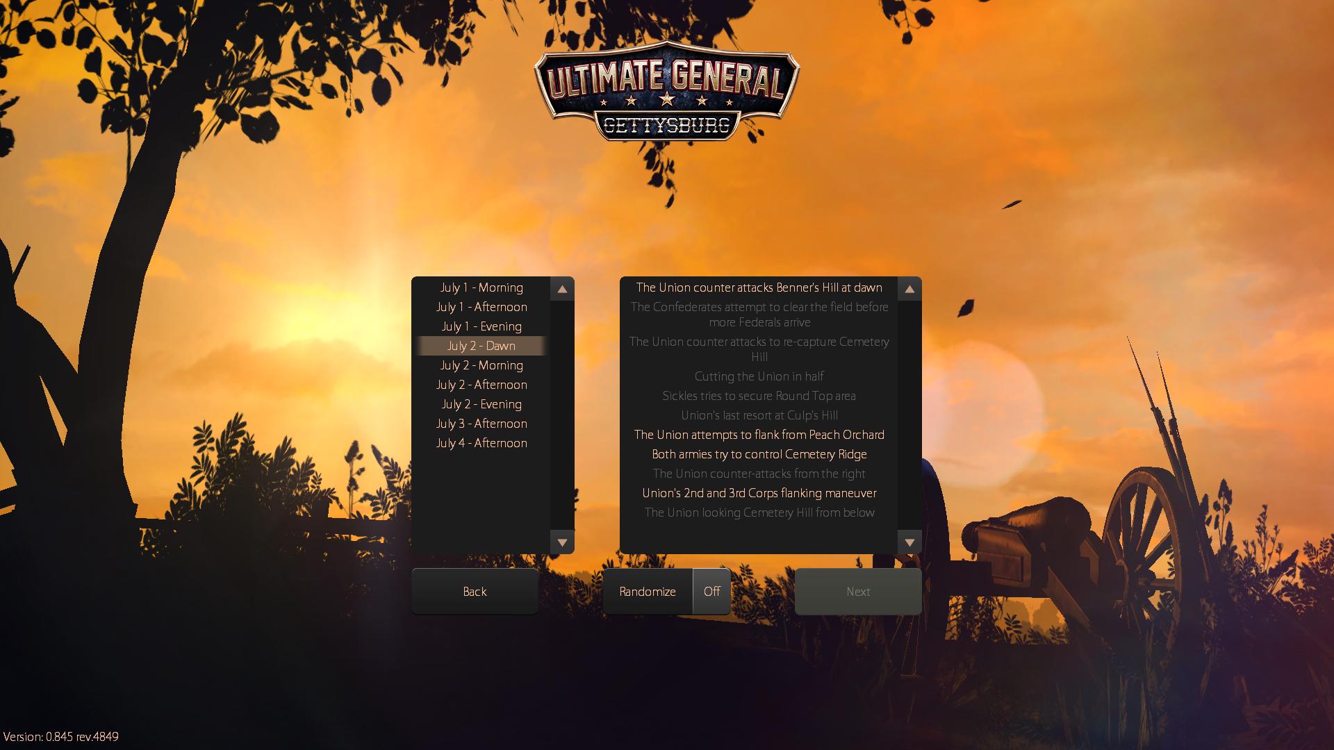 Work in progress menu background.