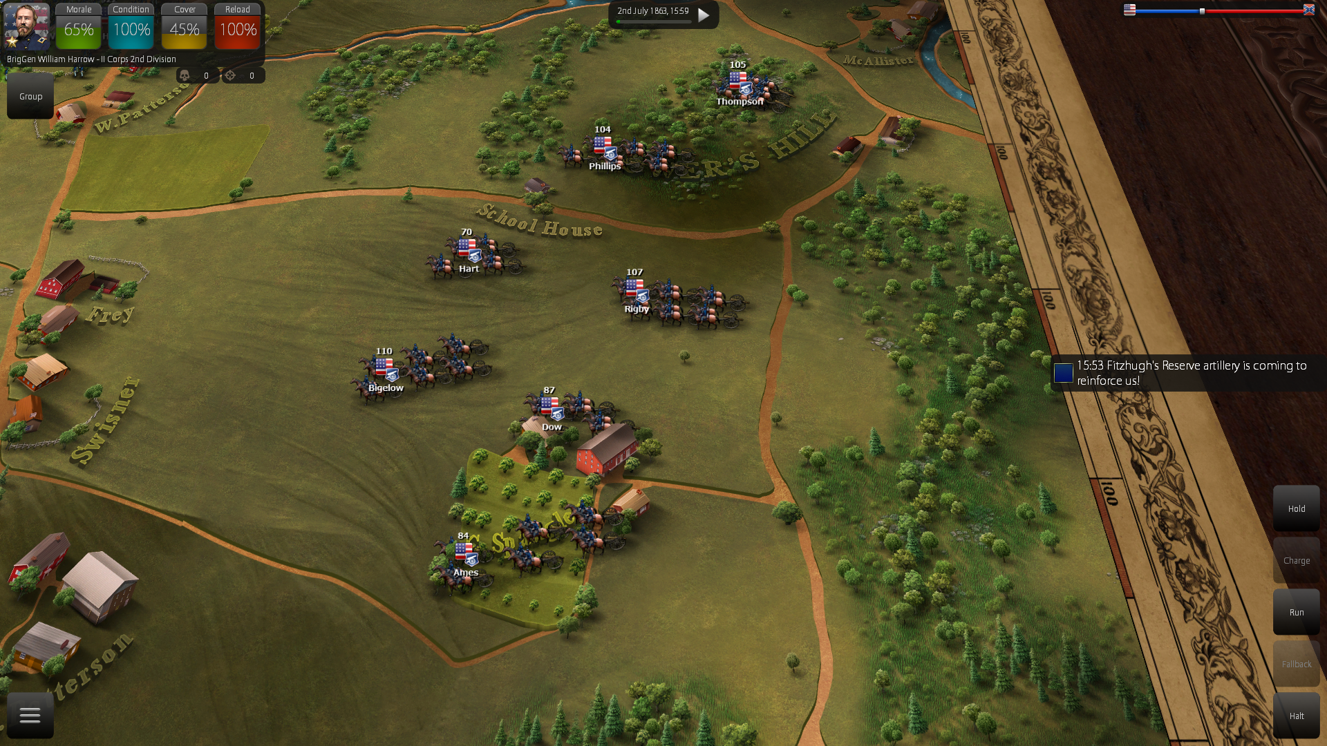 Maneuver your cannons fast using the artillery limbering.
