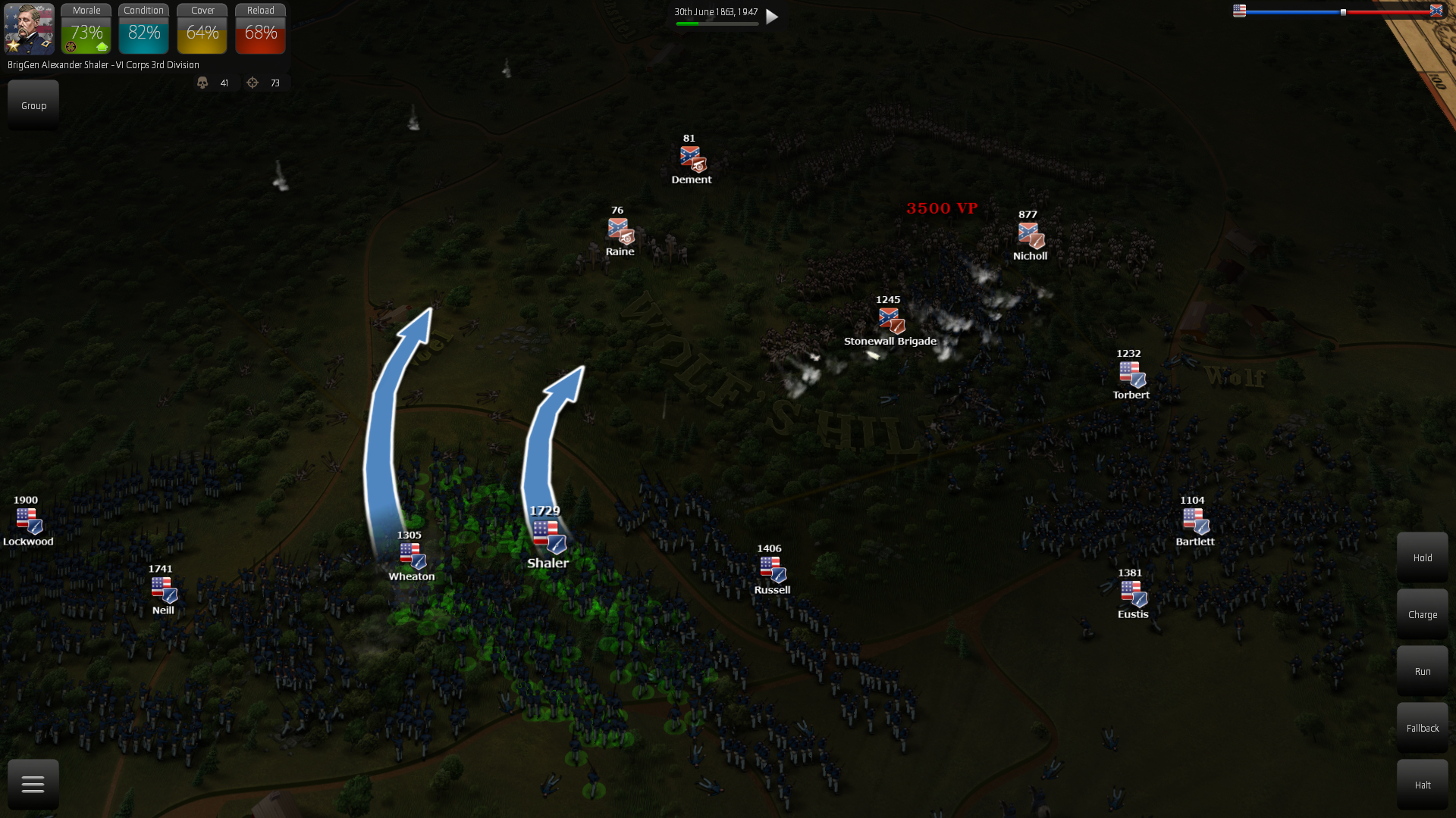 """New multiplayer map """"Night Assault"""". Defend as Confederates against a much larger Union army."""