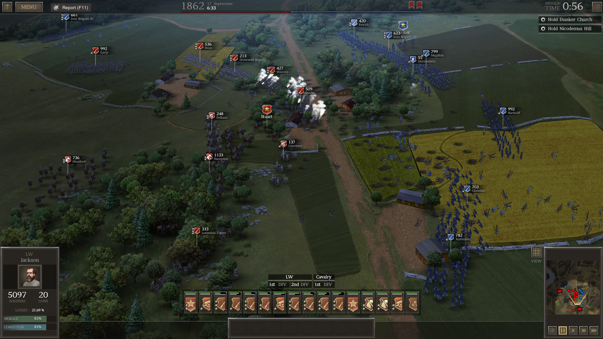 Due to important bug fixes, the AI is expected to create clearer firing lines and flank more often.