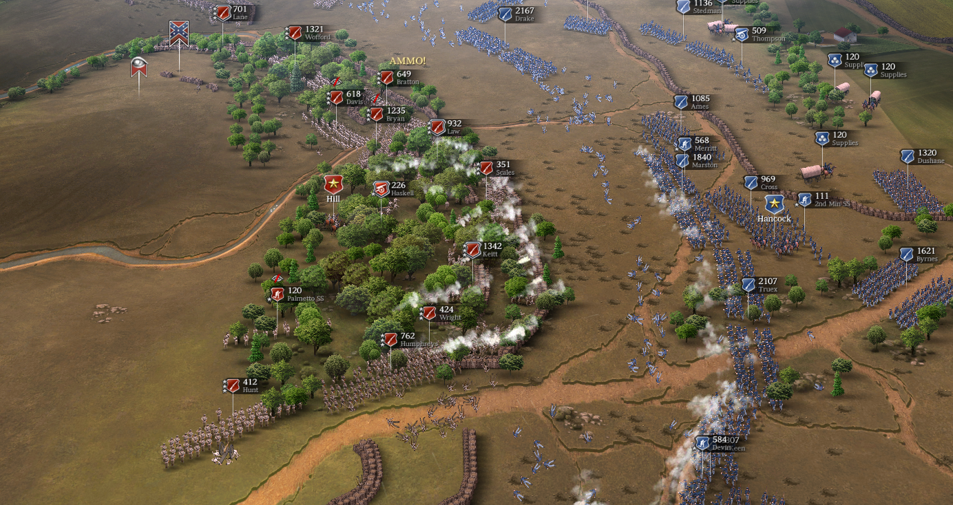 """In the new custom battle """"Cold Harbor, CSA Right Flank"""" you fight on the wide area of Confederate right flank with maximum forces for both sides"""
