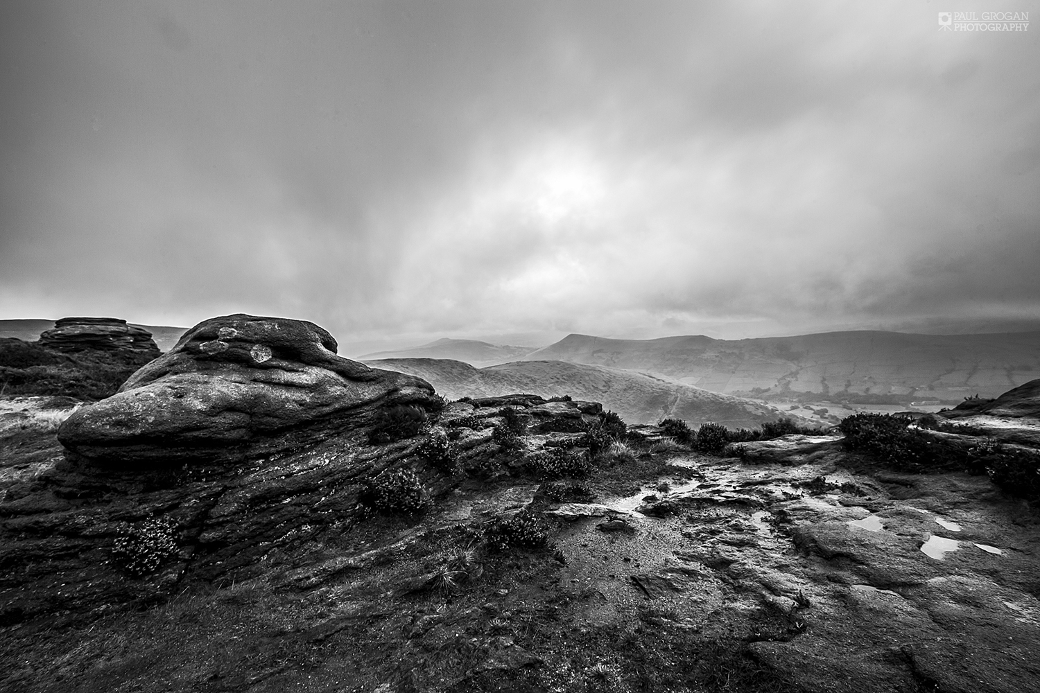 Edale from Kinder, Peak District Landscape