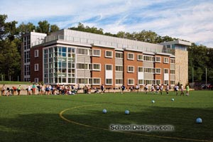 Air-conditioned Rockwell Hall Dormitory overlooking Grellier Stadium