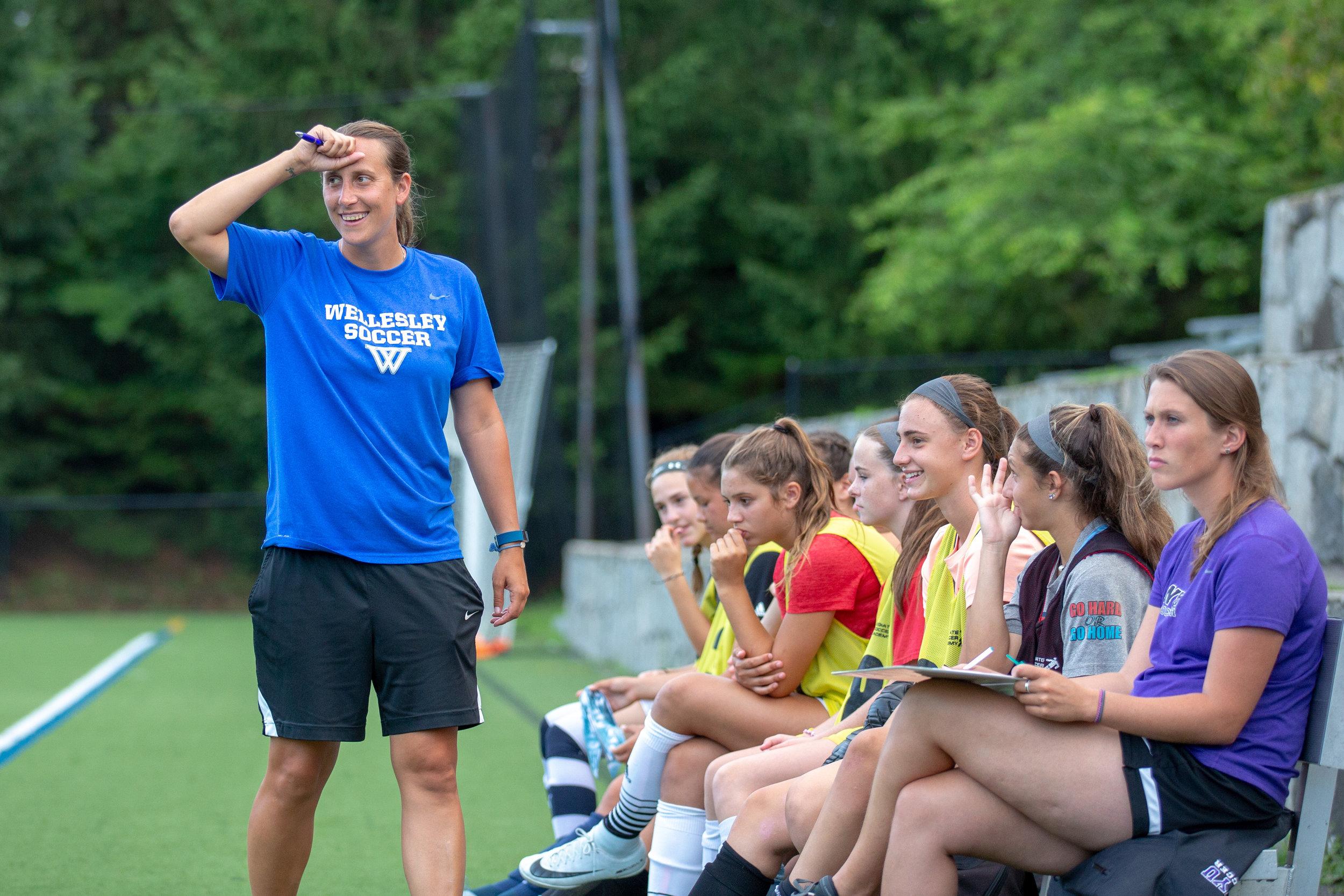 Wellesley College NYU Soccer camp summer New England