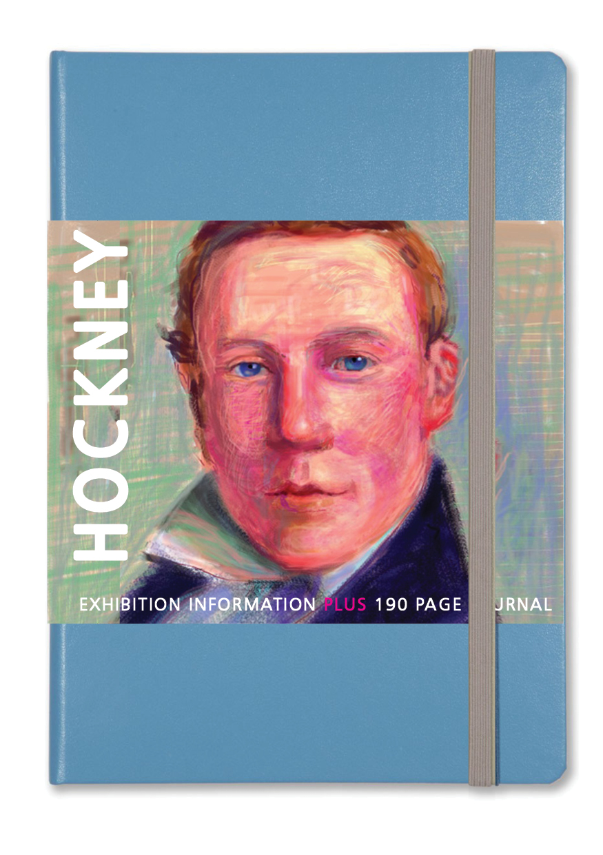EXHIBITION NOTEBOOK+  featuring a wraparound poster/guide to David Hockney's portraits plus a 190 page sketch and notebook