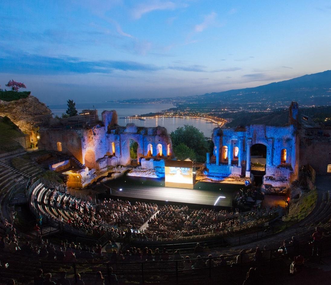 The Greco-Roman Theatre in Taormina.  photo Ami Elsius