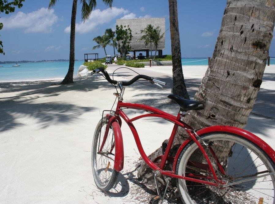 Guest bicycle at Shangri-La Villingili Resort And Spa, Addu Atoll, The Maldives