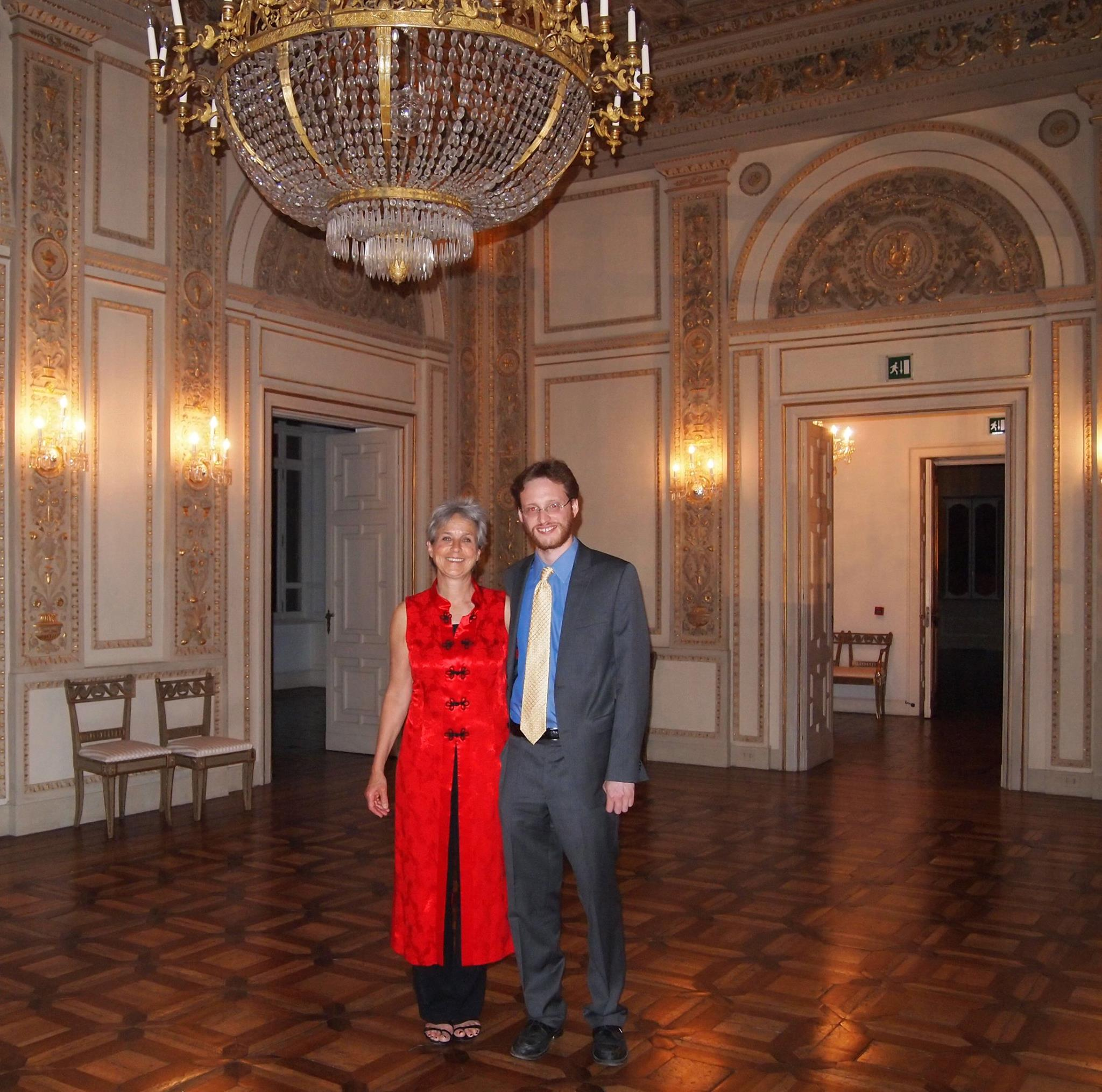 Peggy and Eric Nathan at the American Academy in Rome