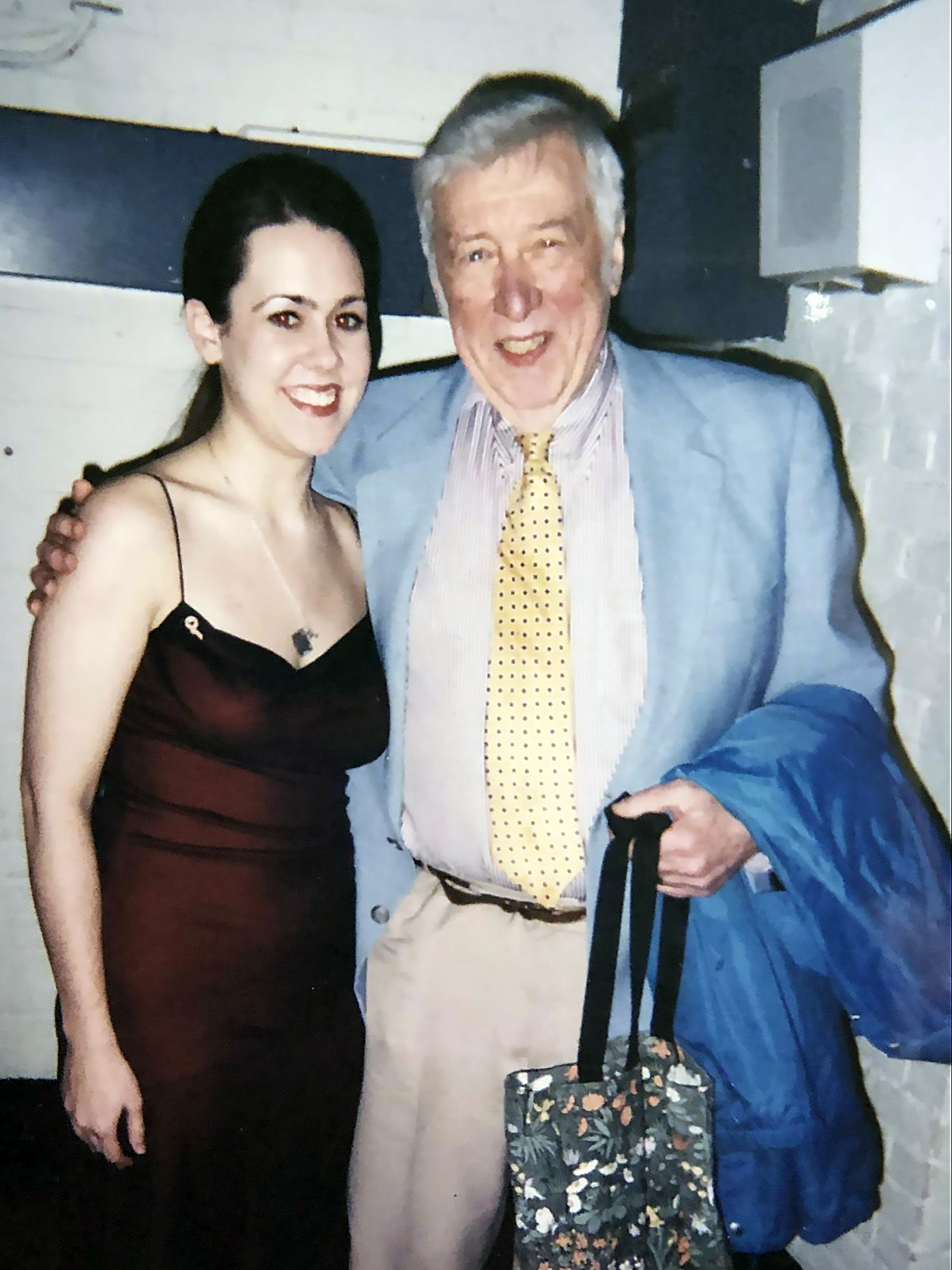 Me with Gunther at NEC after a performance of John Zorn's  Contes De Fées