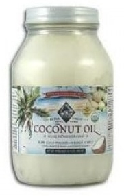 We carry human grade coconut oil by Wilderness Family Naturalsthat you can enjoy with your pet. It's cold-pressed, organic, extra-virgin and delicious!