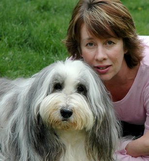 """Carolee and her beloved friend, Murphy.   """"Animals are more than just our companions. They can be our teachers. We should always show them gratitude and respect. And if we can learn to live as they do—from the heart—the world can experience true peace and serenity.""""   www.animal-connections.com"""
