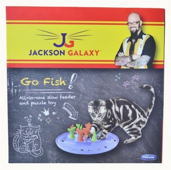 Jackson Galaxy Go Fish Slow Feeder and Puzzle Cat Toy