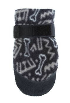 Ultra Paws Cozy Paws - New this year!  Designed to provide improved traction on slippery surfaces and for light duty use outdoors. The soft, breathable fleece is printed in original fabric patterns. The boot sole is dipped in a natural rubber that stays flexible and comfortable for your dog.
