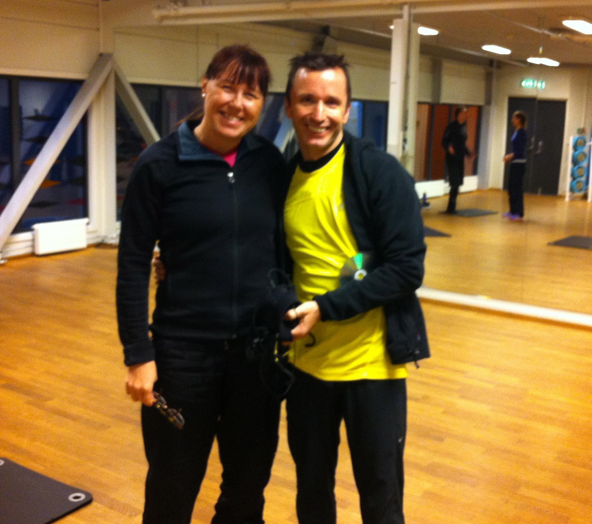 To av instruktørene fra Running Sweden: Sirpa og Rubin