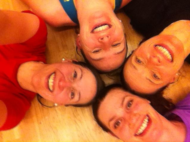 Styrkekvartetten en lørdagskveld: Silja, Siri, Anne og Anna