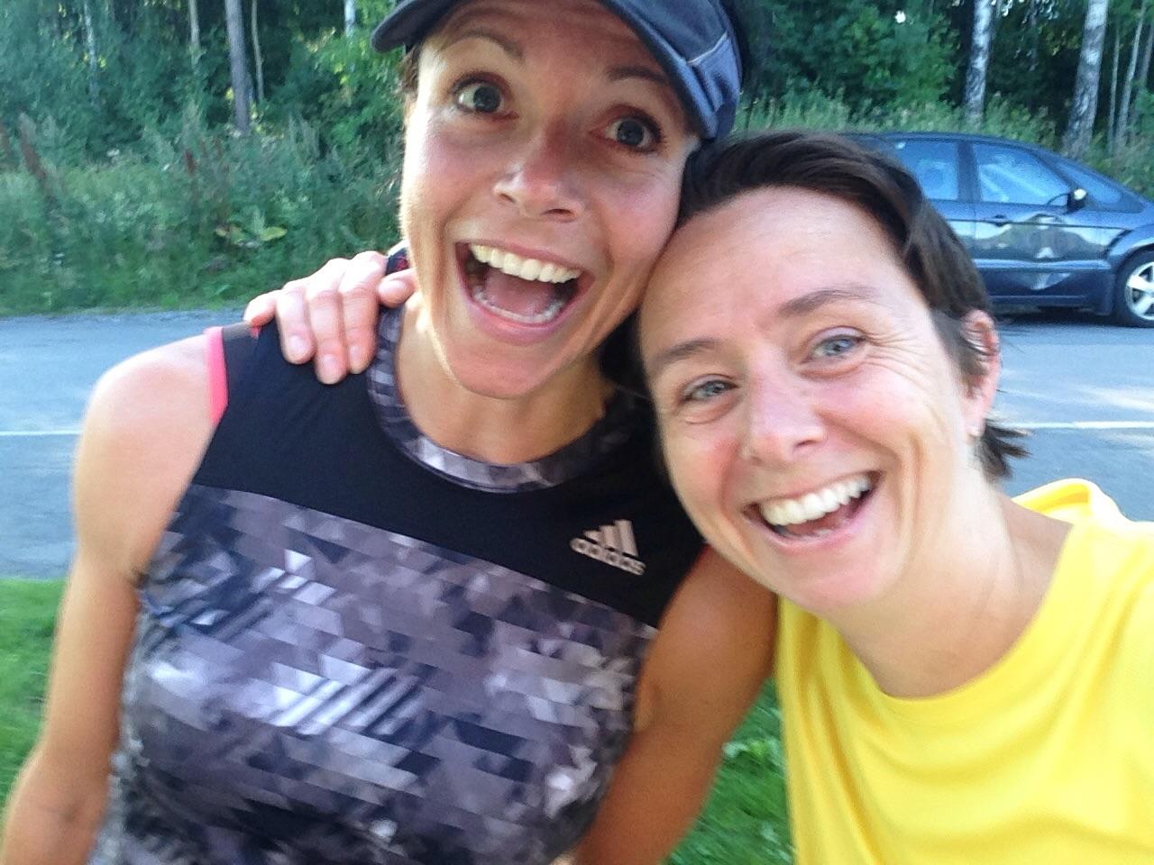 Marit løp ecotrail 80, så ja. Og hun gule bærta da?