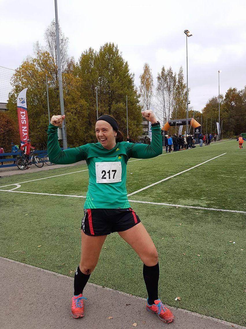 Bilde tatt av maratonmamma etter mål (HUN persa hvertfall!!)
