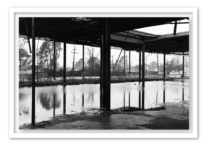 St. Bernard Parish , 2010 Medium: Digital Pigment Print on Ilford Galerie Smooth Pearl Paper mounted to board  Dimensions: 30 x 45.24 inches  Edition of 24 Arabic Numbers and 2 Artist Proofs   © Robin Rhode 2010