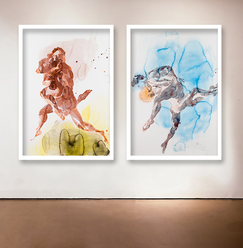 """Dancer Suite , 2013 Medium: Two Pigment Prints on Somerset Paper Dimensions: 40 x 27"""" each Edition of 25 Arabic Numbers, 10 Roman Numerals and 4 Artist Proofs Pencil signed"""
