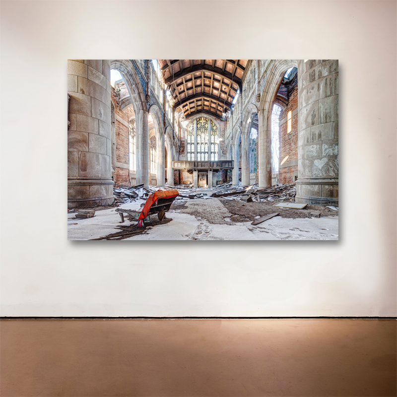 """Decay of Style, 2014 Medium: Sublimation on Aluminum Dimensions and Edition Size: 48""""x72"""",Edition of 7 