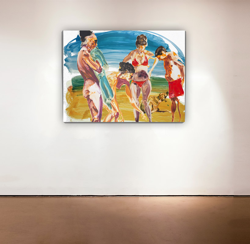On the Beach - 2 , 2013 Medium: Mixed-mediapigment printwith poured resin Dimensions: 30 x 40 inches Pencil signed, verso SOLD OUT