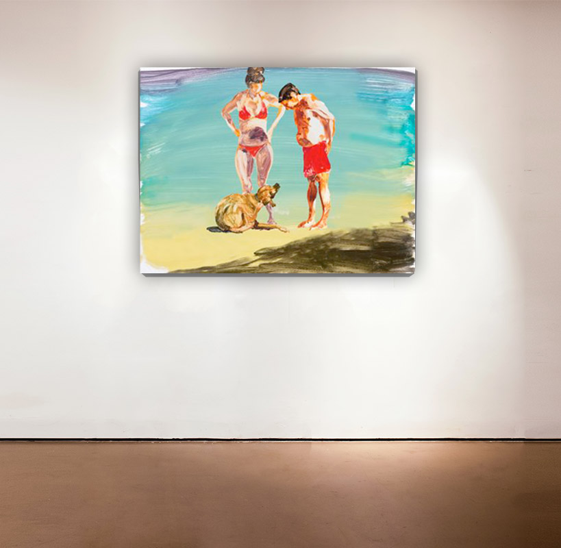 On the Beach - 4 , 2014 Medium: Mixed-mediapigment printwith poured resin Dimensions: 30 x 40 inches Pencil signed, verso