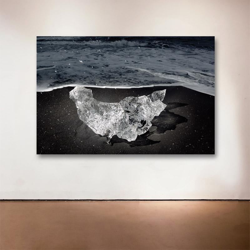 "Ice Diamond No. 1, Iceland, 2007 - 2015 Medium: Sublimation on Aluminum Dimensions: 32 x 28"" Edition of 9 + 2 Artist Proofs"