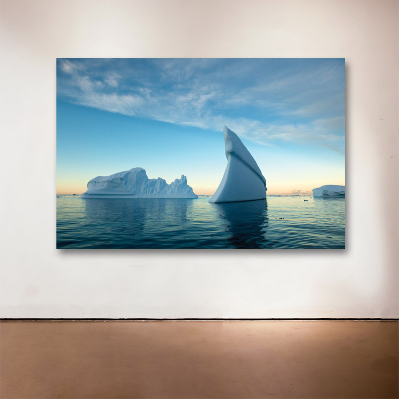 Lindblad Cover, Antarctica, 2011  - 2015 Medium: Sublimation on Aluminum Dimensions: 48 x 72 inches Edition of 6 + 2 Artist Proofs