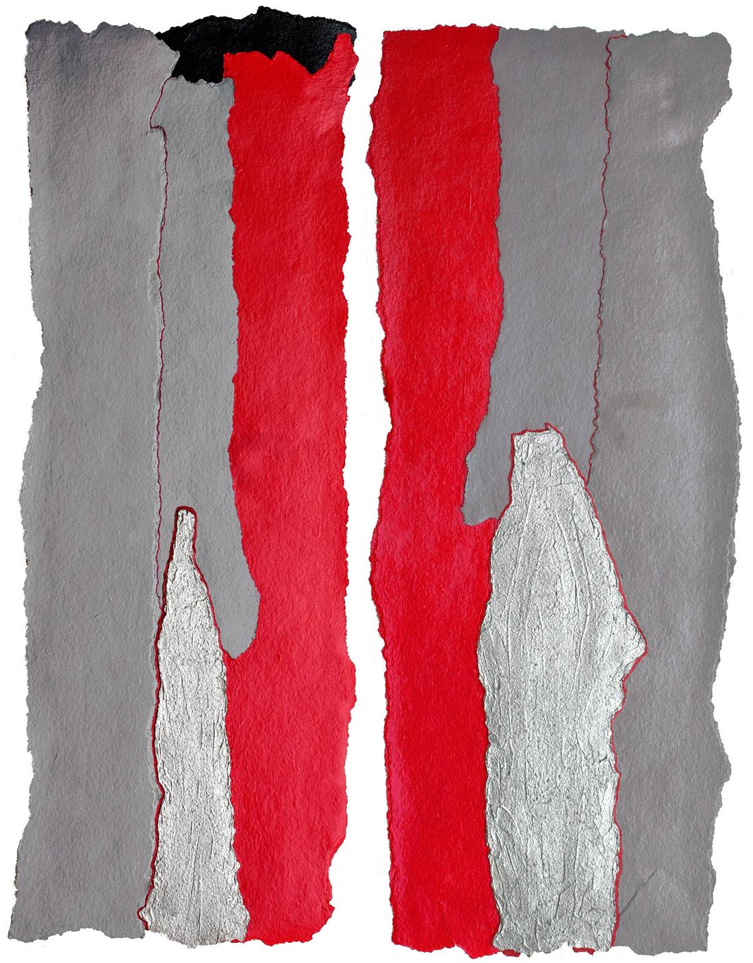 Red & Grey  Diptych
