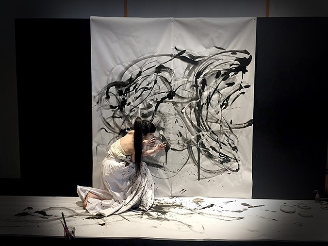 Butoh Dance and Live Painting