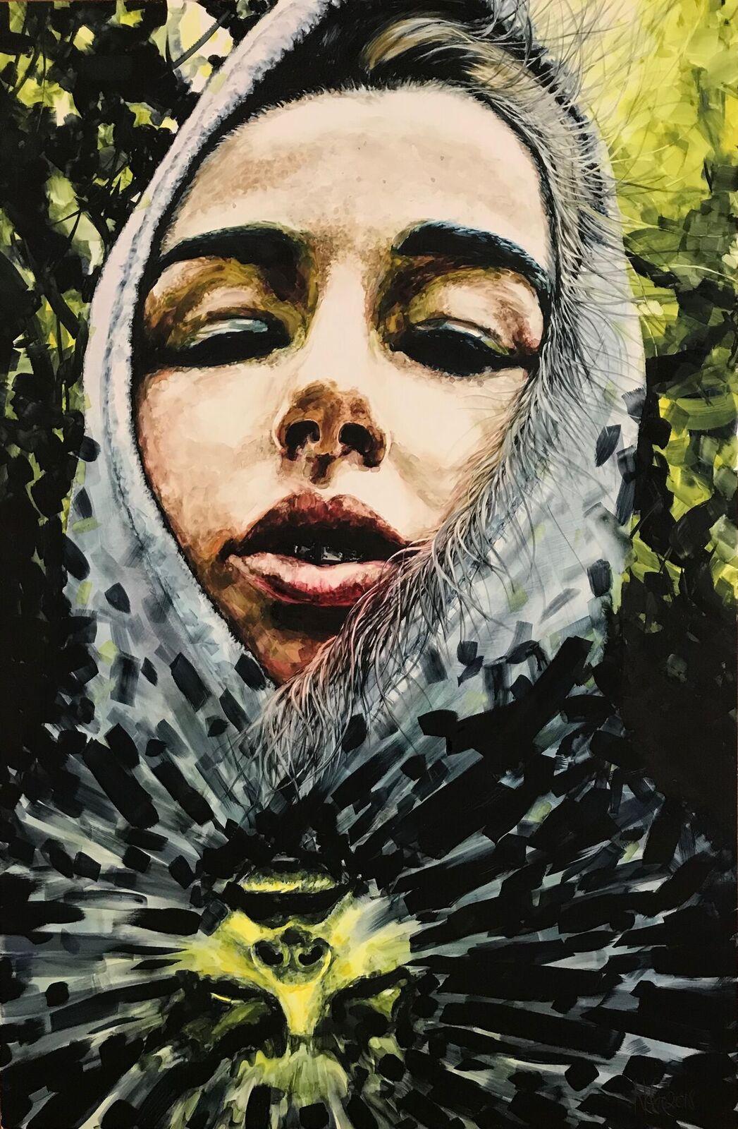 """Portrait Fragment"" Series, ""La Payasa"""