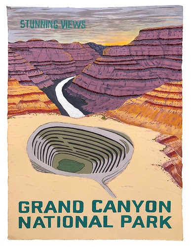 - Meghan Quinn's new body of work Stunning Views is a contemporary reimagining of the classic WPA posters that highlight our public lands. In the revised views, effects of both climate change and public land grabs are exhibited. Reflective and metallic colors bring the paintings to life to highlight resources, ghosts, or causes of catastrophic change. These posters are meant to celebrate our amazing American landscapes and educate what is at stake for these sacred spaces if we don't course correct.