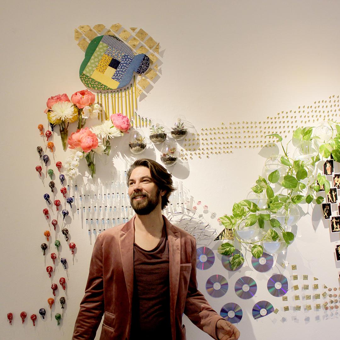 Artist K Ryan Henisey & Xochipilli installation