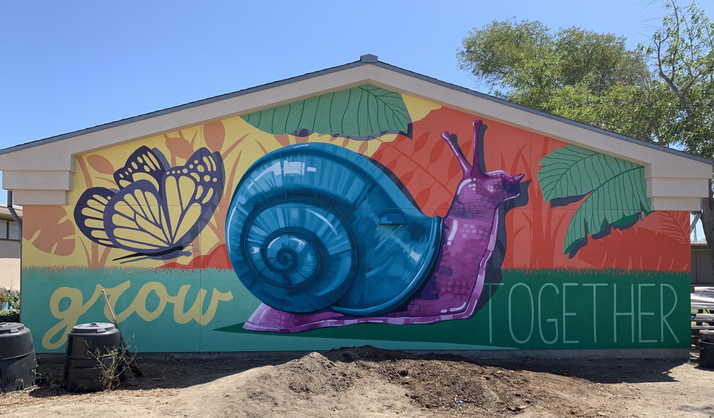 New mural completed for Whitman Elementary School's community garden. San Diego, CA