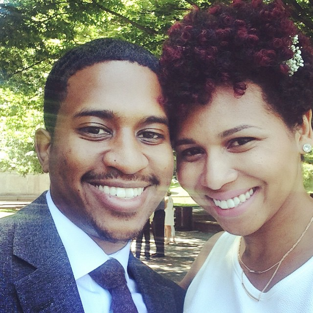A and Bae at the wedding @semazing Congrats! @danibeautifulsoul we are SO happy for you!!!